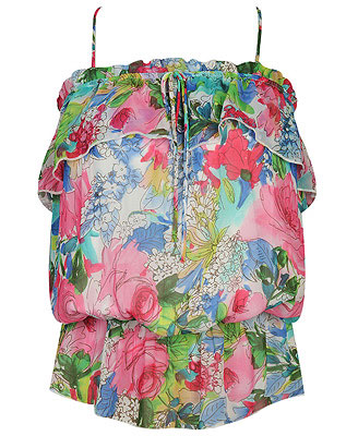 floral-chiffon-top