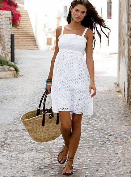 200 Красивые белые летние платья