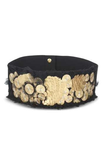 metallic pailette embellished belt 98