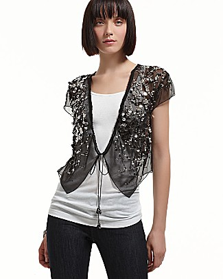 silk sequin glitter jacket 315