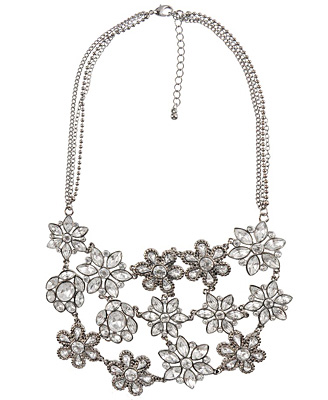 triple row flower necklace 19.80