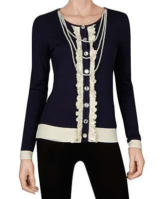 Jewel button sweater 32