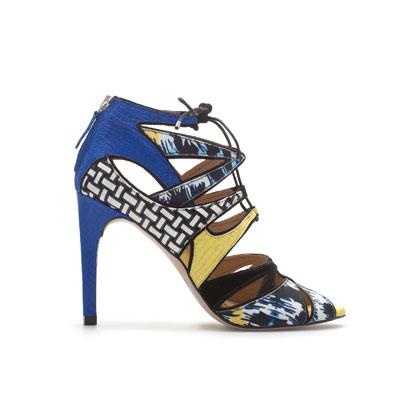 multi colored lace up shoe