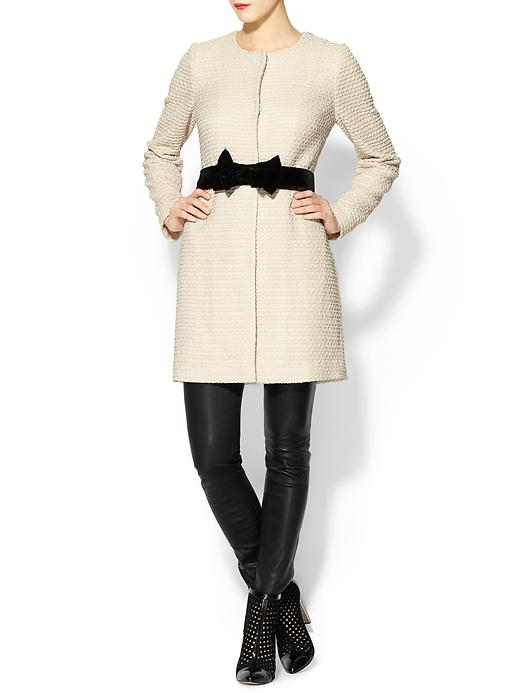 bow detail coat