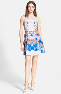 Hunter Bell watercolor dive dress