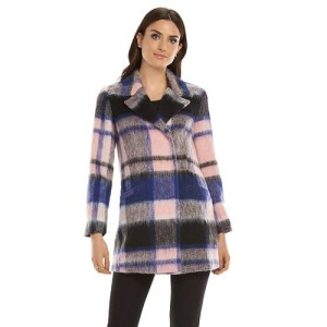elle plaid coat