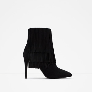 fringe suede ankle boot 119