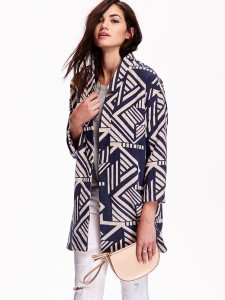 old navy open print jacket