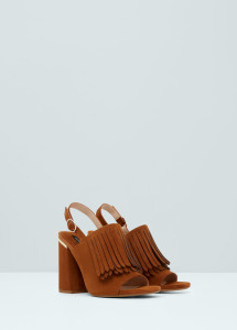 fringe leather sandal mango 119.99