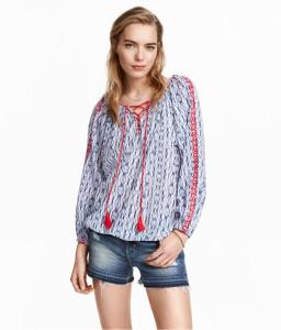 h&m puff blouse
