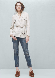 mango shop linen blend jacket