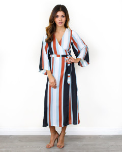 monarchy midi wrap dress